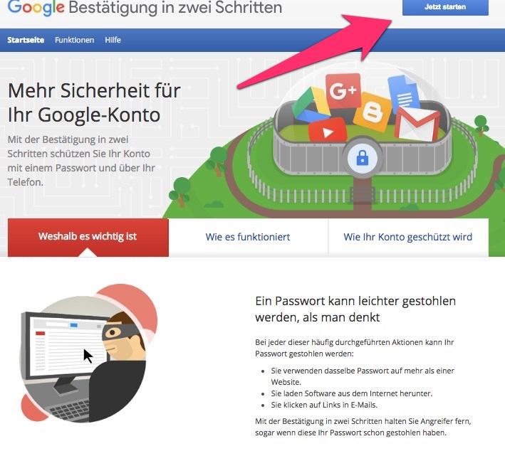 google konto einrichten