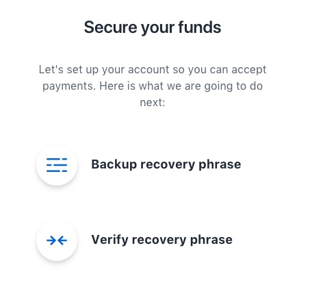 Coinbase Commerce Bachup passwort