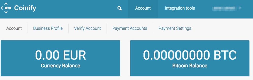 coinify merchant services account