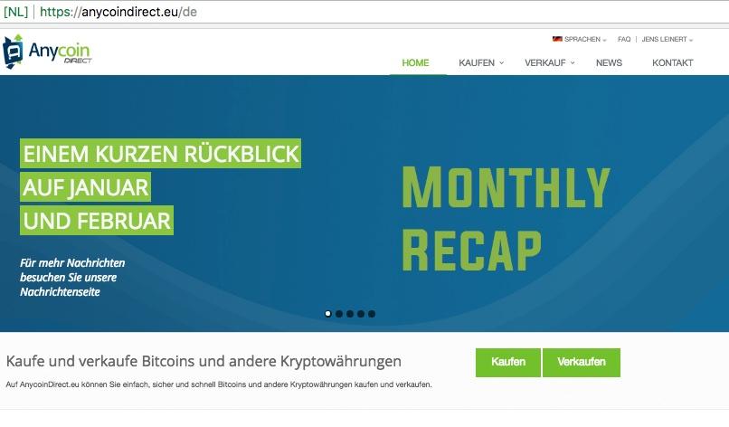 anycoin homepage