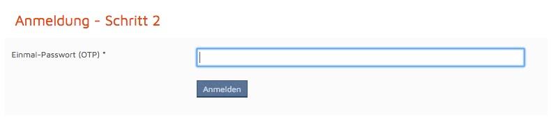 google authenticator TAN anmeldung