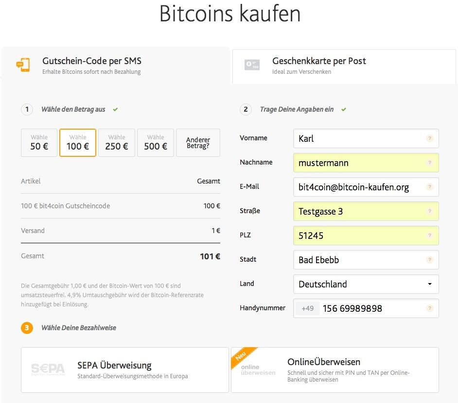 bit4coin bitcoin gutschein kaufen