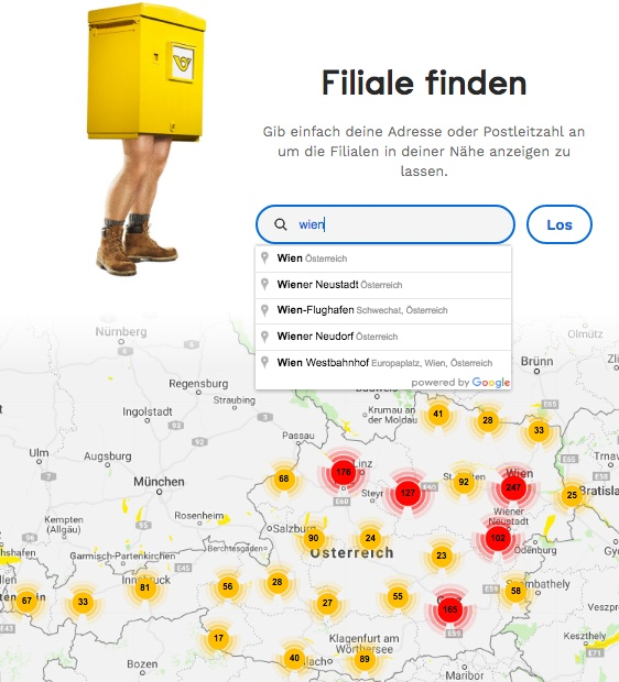 Filiale finden von Bitpanda to go
