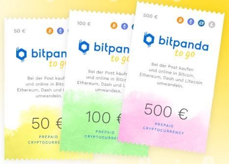 Bitcoin Gutscheine von Bitpanda to go