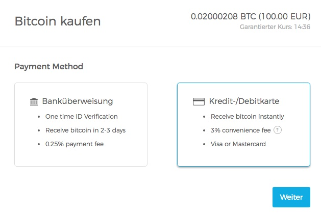 blockchain.info bitcoin kaufen überweisung kreditkarte