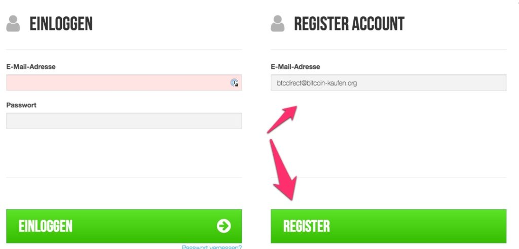 btcdirect registrieren