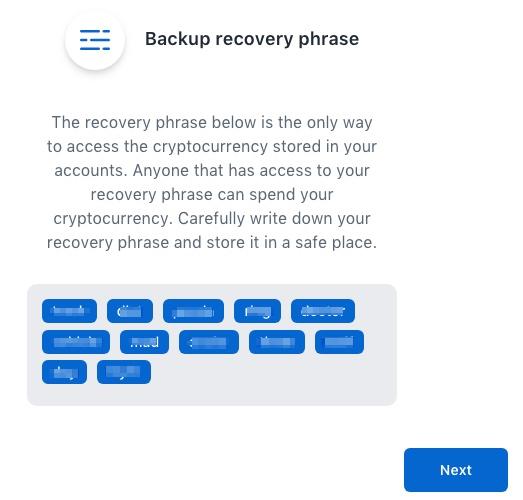 Coinbase Commerce Notfall Passwort