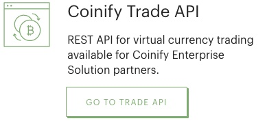Coinify Trade API