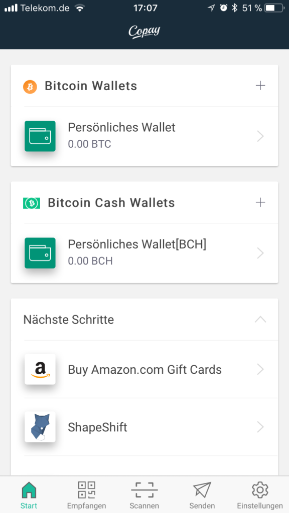 copay bitcoin wallets