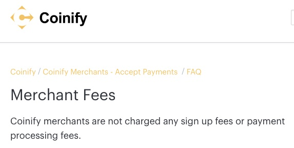 coinify merchant fees