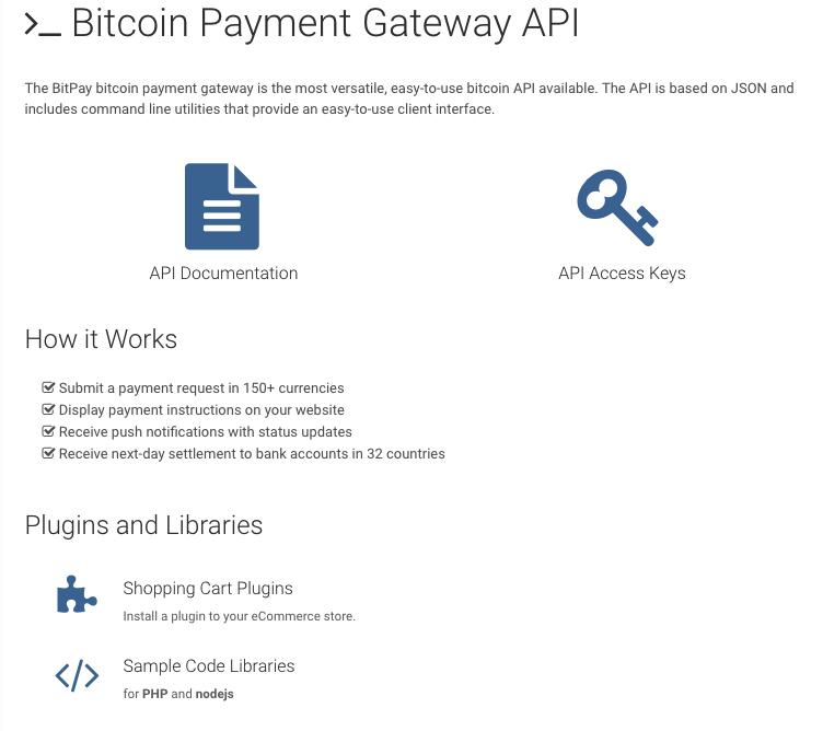 Bitpay API Anbindung