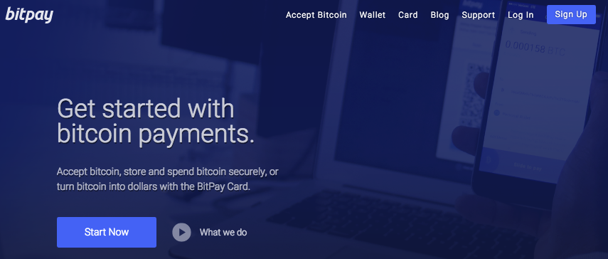 Bitpay Homepage