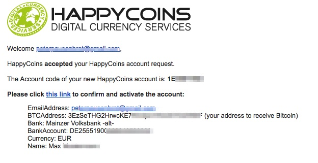 HappyCoins EMail