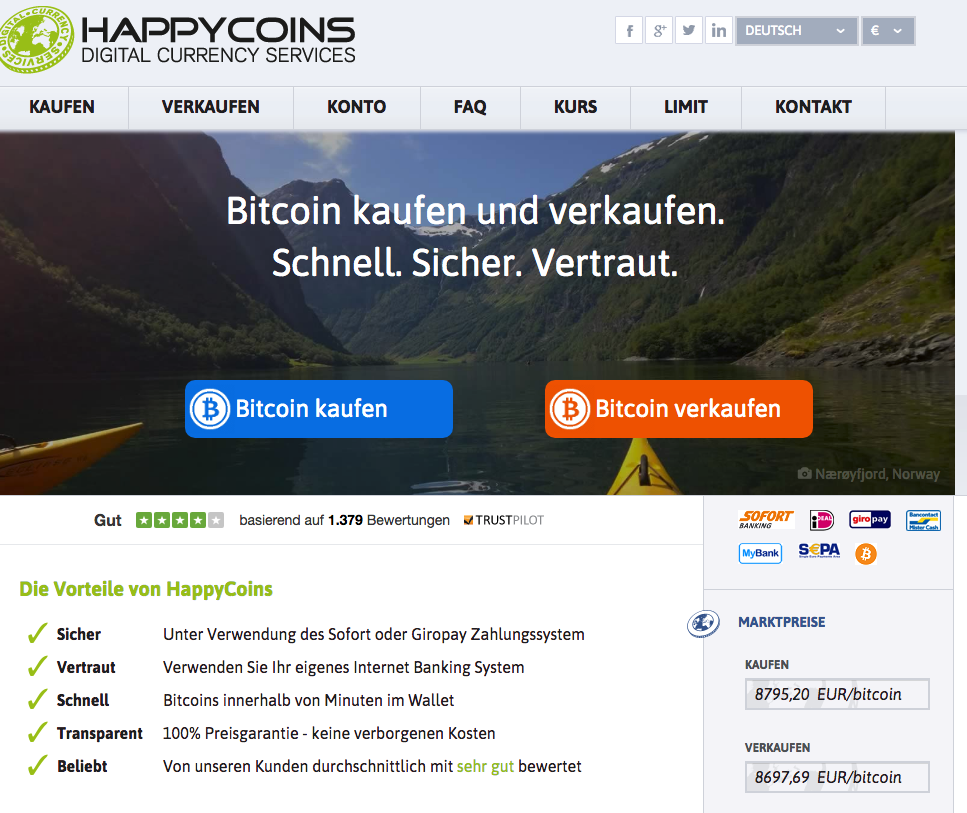 HappyCoins Homepage