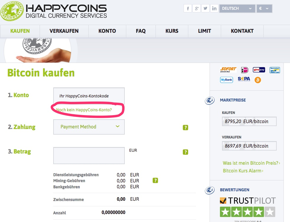 Happycoins bitcoin kaufen