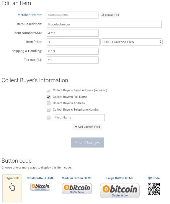 bitpay hosted shop