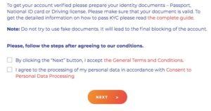 Coinpayments Account Verifizierung