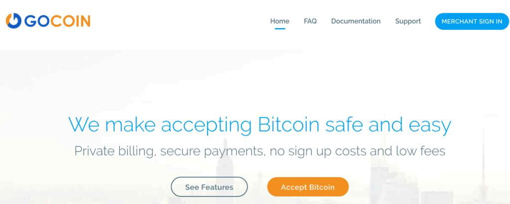 Gocoin Homepage