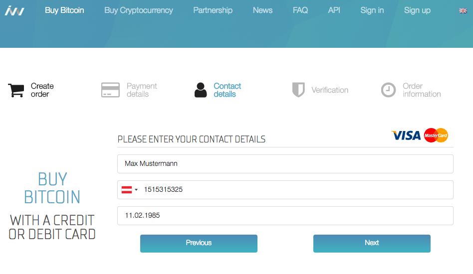 Idacoin Bitcoin kaufen per Kreditkarte