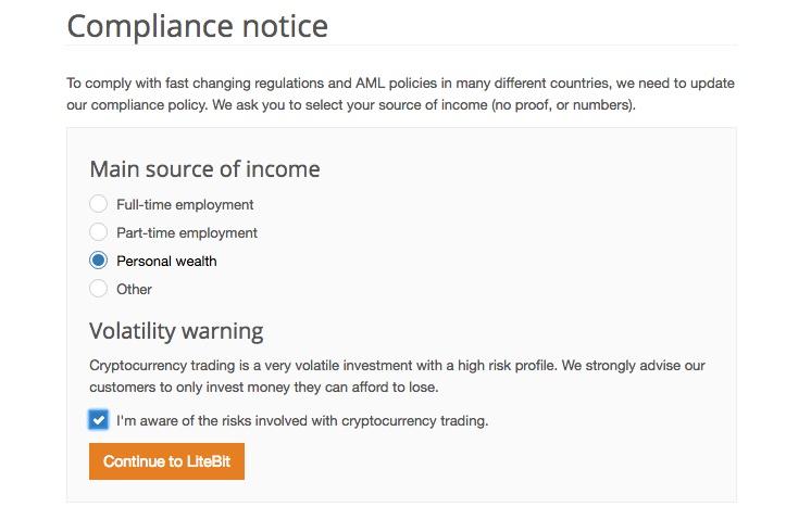LiteBit compliance