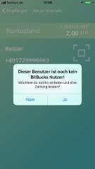 Bitcoin per SMS senden