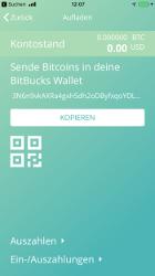 Bitbucks Wallet einzahlen