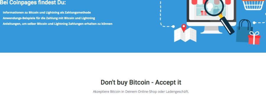 Coincharge Akzeptiere Bitcoin und Lightning